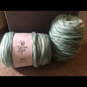 Yarn Bee - Big Succulent Teal/Green/White Yarn
